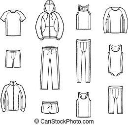 sportende, kleren