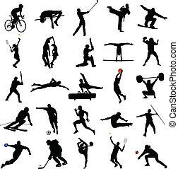 sportende, malen, vermalen