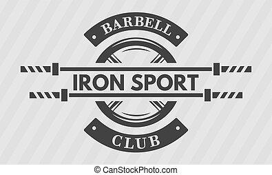 sportende, schijf, ijzer, gewicht, barbell.