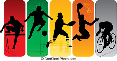 sportende, silhouettes