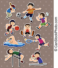sportende, stickers