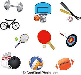 sportende, symbolen