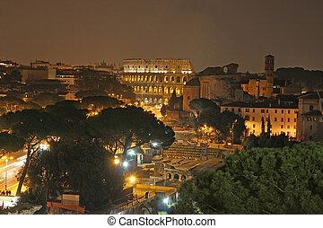 sporthalle, roma, nacht