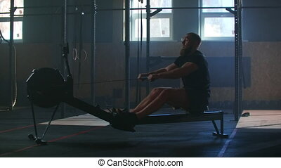 sportif, mouvement, lent, fitness, séance entraînement,...