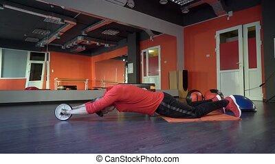 sportif, sain, jeune, gym., actif, homme