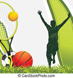 Sporting balls. Background - Sporting balls. Recreation...