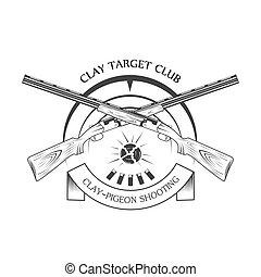 sporting clay Skeet - vintage clay target and gun club...