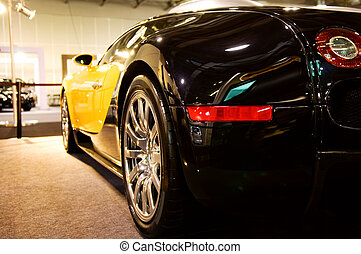 The back of sport car on show