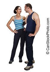 Sportive couple