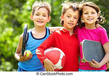 Sportive friends
