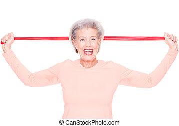 Sportive senior woman