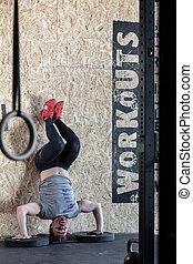 sportivo, avanzato, esercizio