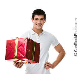 sportivo, offerta, regalo, uomo