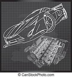 sportkocsi, skicc, képben látható, kosárpalánk