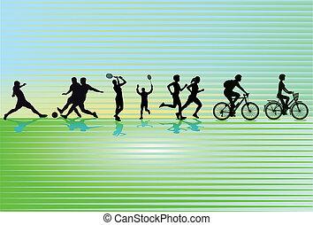 sportlich, freizeit- tätigkeit