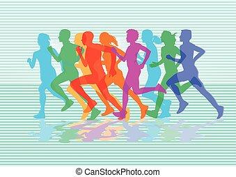 sportlich, laufen.eps
