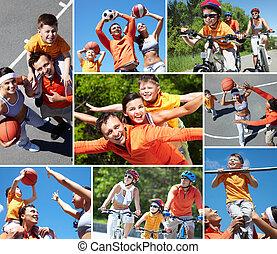 sportliche , familie