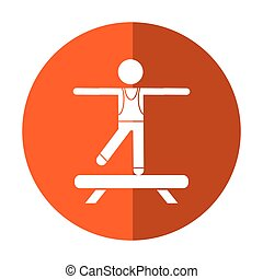 sportman artistic gymnastics shadow
