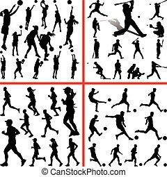 sportmix. women basketball, baseball, soccer, runner