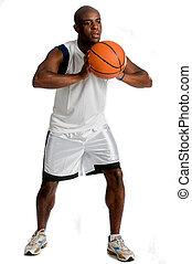 sportowy, koszykówka, człowiek