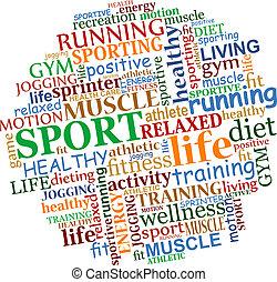 sports, étiquette, nuage