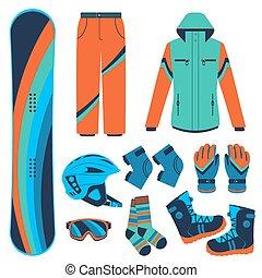 sports., 極点, 冬, snowboard.
