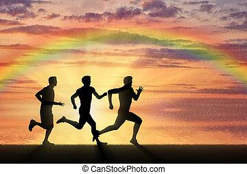 sports., 競争, 3, 動くこと, 運動選手, ランナー