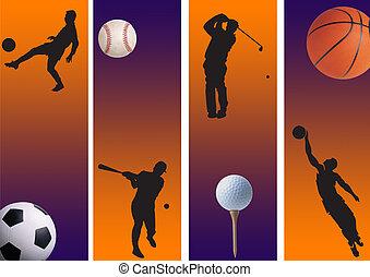 sports 6 - football, golf and basketball baseball with ...