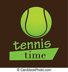 sports - a tennis icon with some text and its respective...