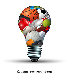 Sports Activity Ideas - Sports activity ideas concept as a...