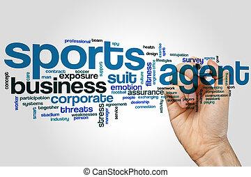 sports, agent, mot, nuage