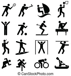 Sports and athletics icons - Sports and athletics icon set