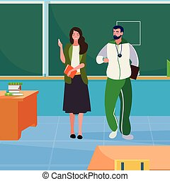 sports and female teachers in the classroom characters