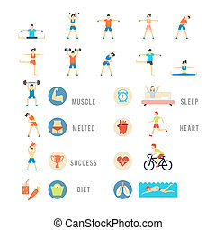 Sports and Health People Illustrations - Sports and Health...