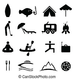 Sports and recreation icons - Sports and recreation icon set