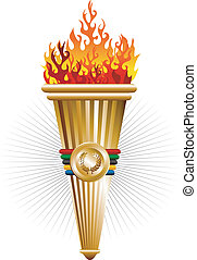 Sports antorcha of triumph vector illustration. Vector file ...