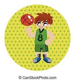 sports avec ballon, thème, éléments