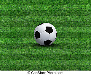 Sports background - soccer ball on