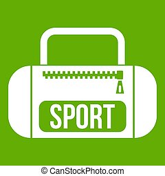 Sports bag icon green