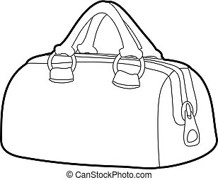 Sports bag icon outline