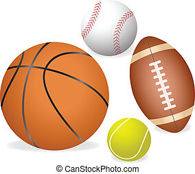 Sports ball - Four major sports ball