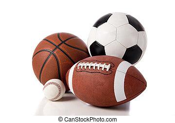 sports, balle, blanc