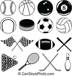 Sports Balls and Other Items - Illustration of balls and...