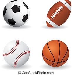 Sports balls - Set of detailed sports balls