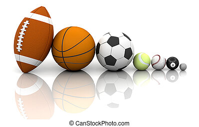 Sports balls - Various sports balls