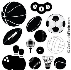 sports balls - vector file