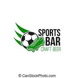Sports bar vector emblem