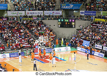 Sports basketball arena in south korea
