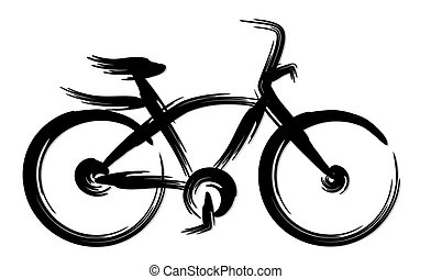 Sports bicycle.