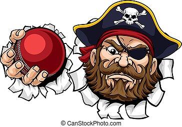 sports, boll, syrsa, tecknad film, sjörövare, maskot